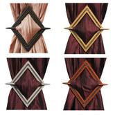 Decorative Bling Diamond Channel Curtain Holdbacks, Window Curtain Tieback - 4 Colors