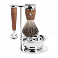Mühle Rytmo Ash Wood 4 Piece Safety Razor Set