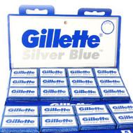 Bulk Pack 100 Gillette Silver Blue Blades