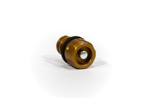 Yeti Cooler aluminum drain plug Grizzly valve Six Shooter Orange