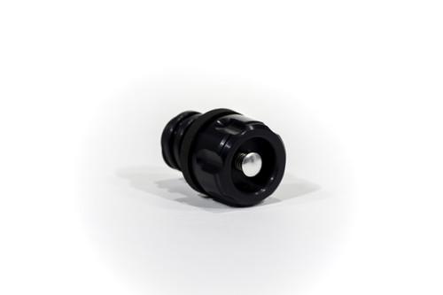 Yeti Cooler aluminum drain plug Grizzly valve Six Shooter Black