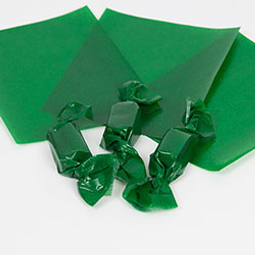 "Green Caramel Wrappers 4"" x 5"", 100 Sheets"
