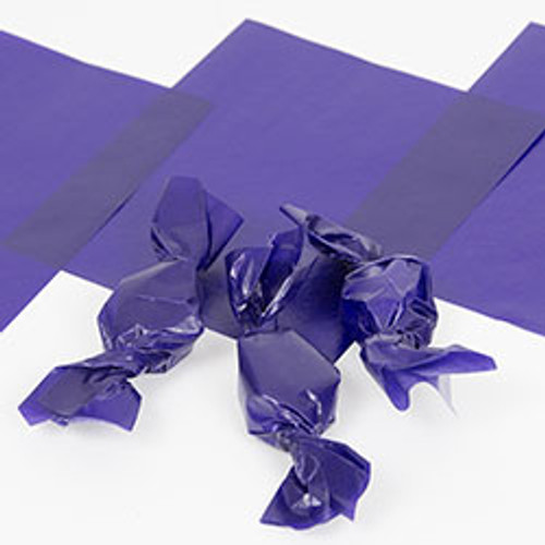 "Purple Caramel Wrappers 4"" x 5"", 100 Sheets"