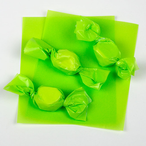 """Pistachio Green Caramel Wrappers 4"""" x 5"""", 100 Sheets"""