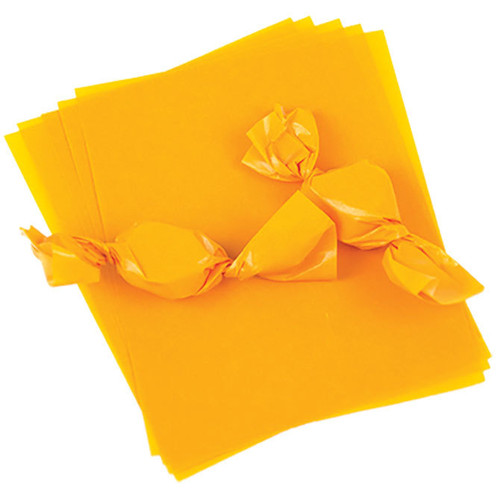 "Honey Gold Caramel Wrappers 4"" x 5"", 100 Sheets"