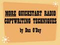 MORE QUICKSTART RADIO COPYWRITING TECHNIQUES (Dan O'Day) mp3 download