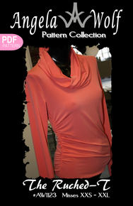 Ruched-T Knit Top | Angela Wolf Patterns