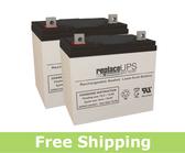 Quantum Rehab Q600XL - Wheelchair Battery Set