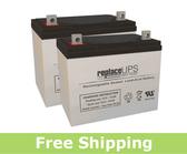 Quantum Rehab Q6000XL - Wheelchair Battery Set