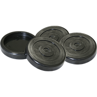 Round Rubber Pad Slip Over fits Two-Post LIfts / Ea. (Priced per Piece)