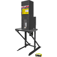 RP-50FC Industrial 25‐Ton Capacity High‐Speed Oil Filter Crusher complete with Stand