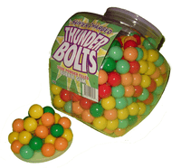 Thunderbolts Sour-Powder Bubble Gum, by Other,  and more Confectionery at The Professors Online Lolly Shop. (Image Number :2151)