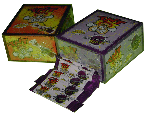 TNT Shocks - Black Raspberry, by TNT,  and more Confectionery at The Professors Online Lolly Shop. (Image Number :2301)