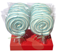 Marshmallow Rollerpops - Blue, by Other,  and more Confectionery at The Professors Online Lolly Shop. (Image Number :5413)