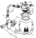 Hayward   VL Series Sand Filter Systems   O-Ring Kit: All O-Rings on Strainer and Filter   VLX4004A
