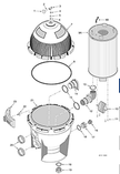 Pentair | SYSTEM:3® Modular D.E. Filters - SMD Series | Baffle Kit (with Screws) | 23910-0013S