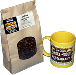 Yellow Smoke House Logo Mug & Fresh Smoke House Coffee