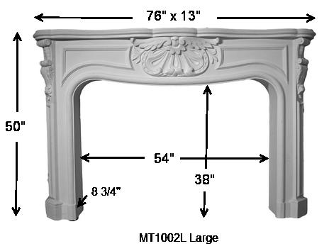 Large French Stone Fireplace Mantel Stone Mantel Mt1002l 76 Inch
