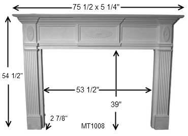 MT1008 Cast Stone Mantel Dimensions | Sunburst