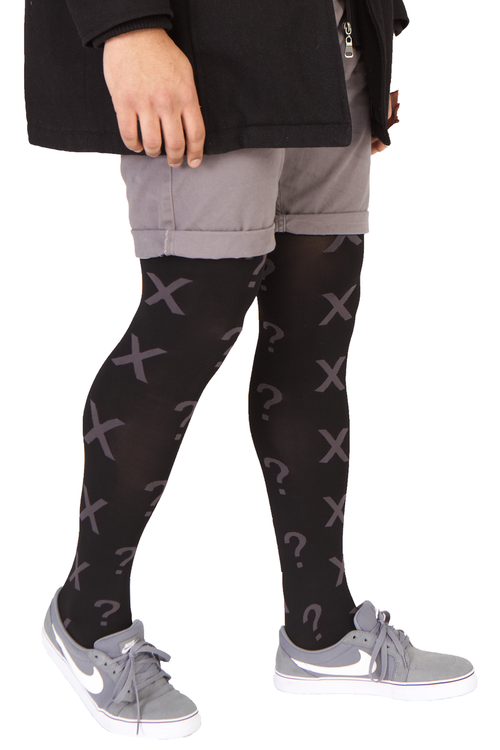 Image showing Emilio Cavallini's Question Mark male tights / mantyhose / pantyhose for men.
