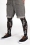 Adrian Moro patterned support tights for men / mantyhose
