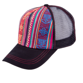 Peter Grimm - Anaba Multicolor Trucker Baseball Cap Burgundy