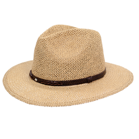 Peter Grimm - Bastian Straw Pinch Crown Safari Fedora