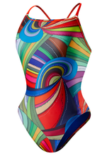Speedo Rebel Lines Shirred Back