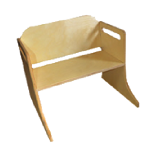 Valley Road Wooden Seat with Seatbelts