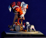 Andrea Miniatures: A Wonderful World - Santa's Disguise Doesn't Work
