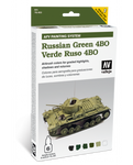 Vallejo - Model Air - AFV Russian Green 4BO Paint Set