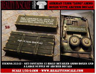 Reality in Scale German 75mm Long Ammo Boxes
