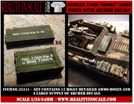 Reality in Scale German 75mm Short ammo boxes
