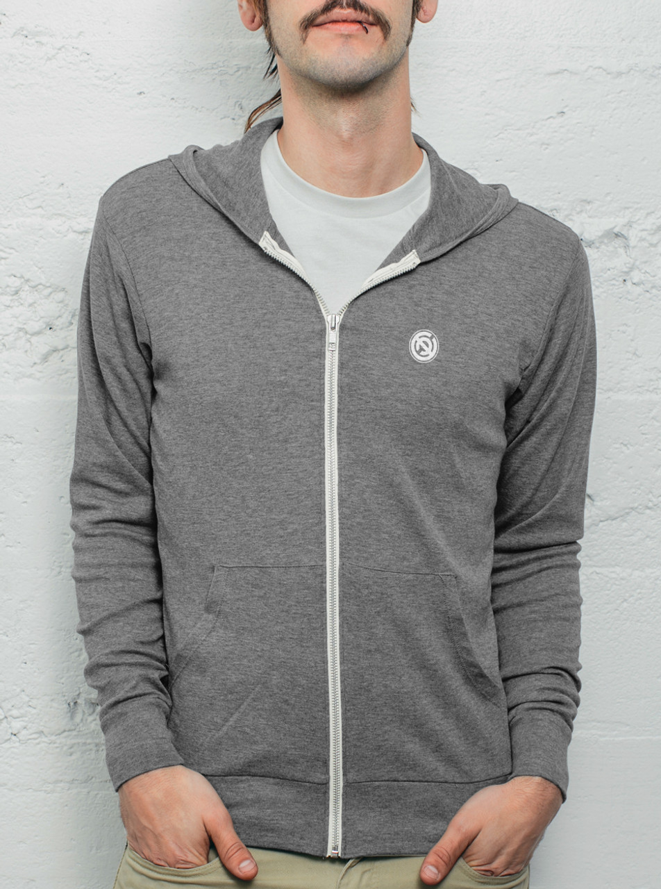 Grey Mens Light Hoodie - FREE Shipping
