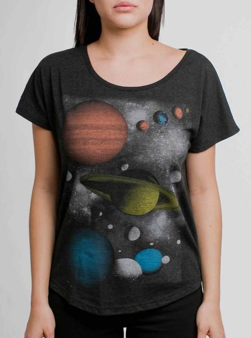 Solar - Multicolor on Black Triblend Womens Dolman T Shirt