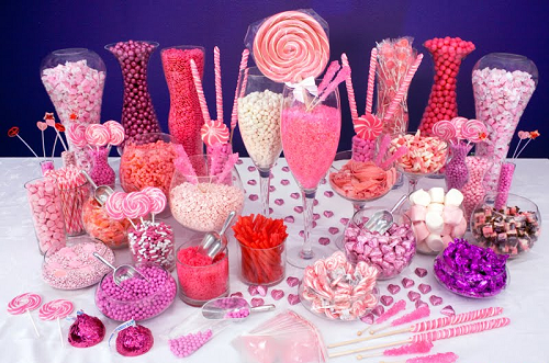 candy buffet ideas, wedding candy buffet, candy for wedding favors, Baby shower