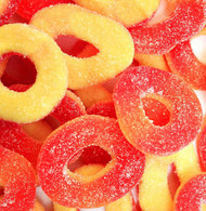 Gummy Rings Peach 5 Pounds