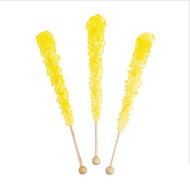 Rock Candy on Sticks Wrapped Yellow 48 units