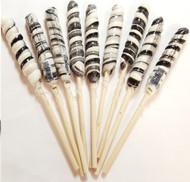 "9"" Twist Lollipops Black & White 12 Units"