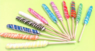 "9"" Twist Lollipops Assorted 12 Units"