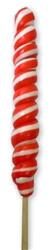 "9""Twist Lollipops Red/White 12 Units"
