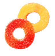 Gummy Rings Peach 2.5 Pounds