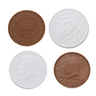 Chocolate Coins White 1 Pound