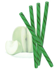 Circus Candy Sticks Dark Green/Green 10 pieces