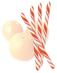 Circus Candy Sticks Orange/White 10 pieces