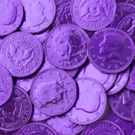 Chocolate Coins Purple Case (12 Pounds)
