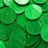 Chocolate Coins Green Case (12 Pounds)