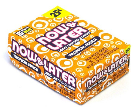 Now And Later Candy 1 Pack Tropical Punch