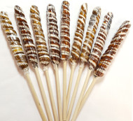 "9""Twist Lollipops Brown/White 12 Units"