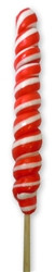 9 inch Twist Whirly Lollipops 72 units 1oz Red & White